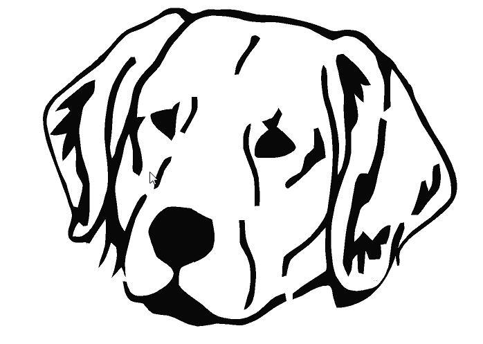 lab dog outline