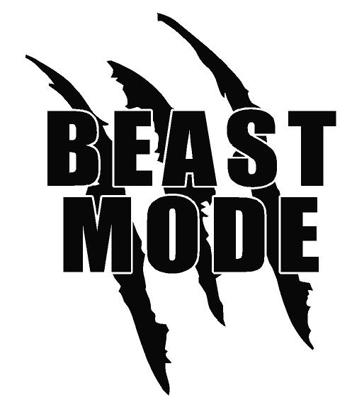 Dirt Bike Clipart Black And White Beast Mode Decal [dec-...