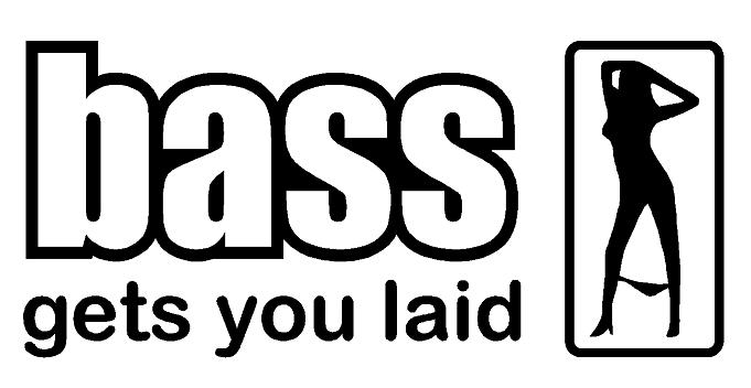 Bass Gets You Laid Decal
