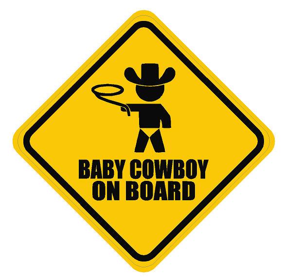 Baby On Board Cowboy Dec Bonb Cowboy 7 50 Decal