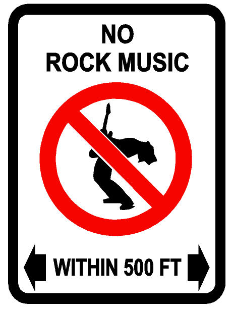 no rock music within 500ft decal  dec-norockmusic