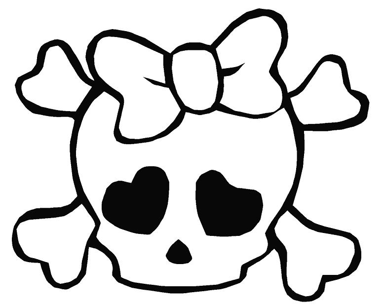 Cute Bow Skull Decal Skull Decal