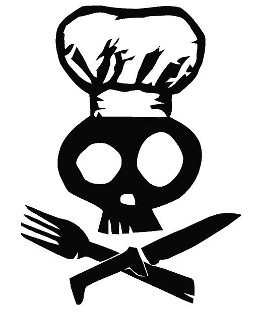 Chef Skull Decal Dec Skull Chef 4 00 Decal Doctorz