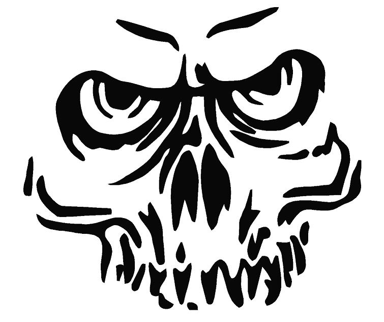 Crazy Skull Drawings Crazy Skull Decal