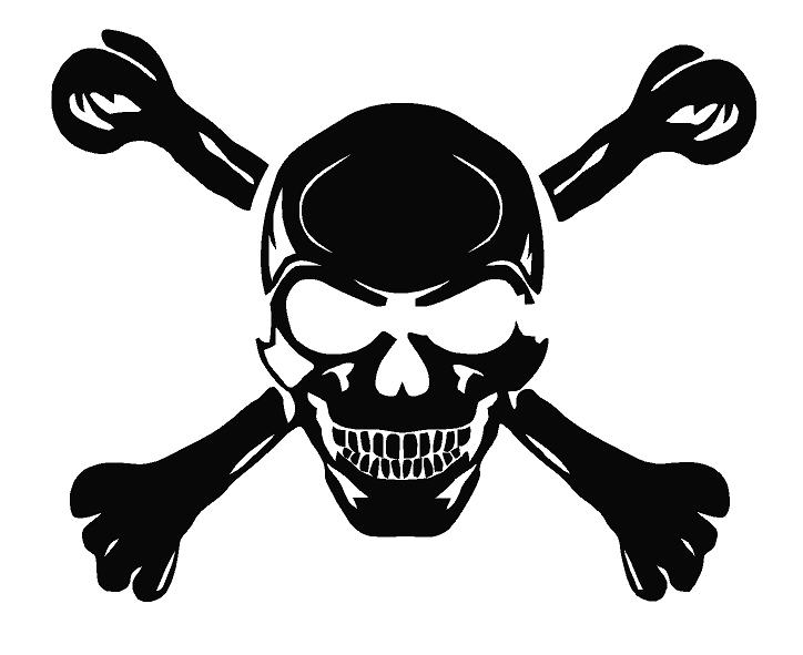 Evil wones Skull Decal Skull Decal