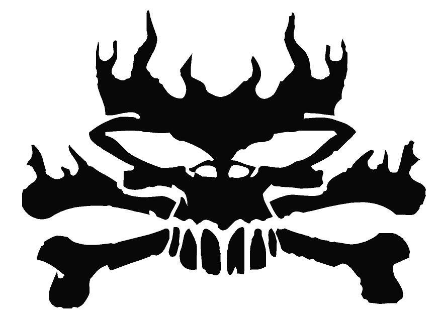 Flaming wones Skull Decal Skull Decal