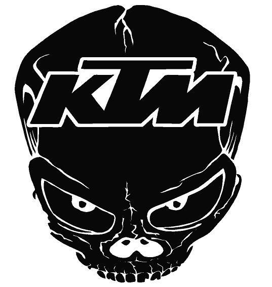 Ktm Skull Decal Solid Dec Skull Ktmsolid 8 00 Decal