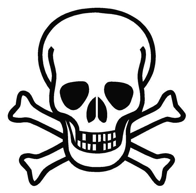 Outline Skull Decal Skull Decal